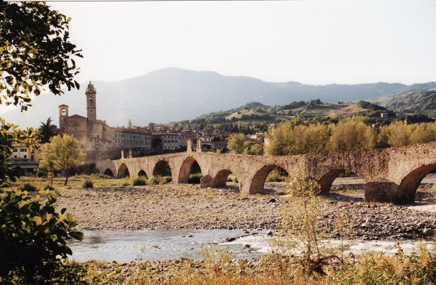 Beautiful bridge in Bobbio
