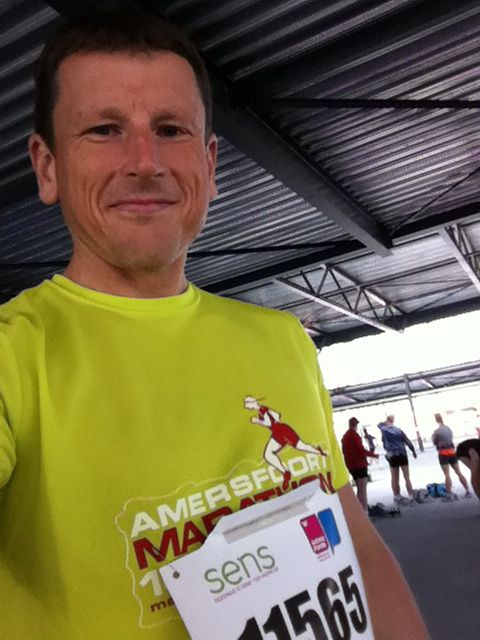 Before the start of the Amersfoort marathon