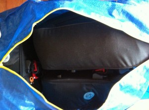 Ikea bag with bike bags