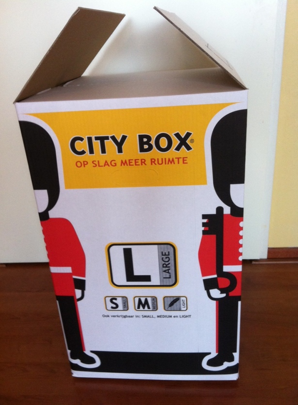 Backpack in City Box
