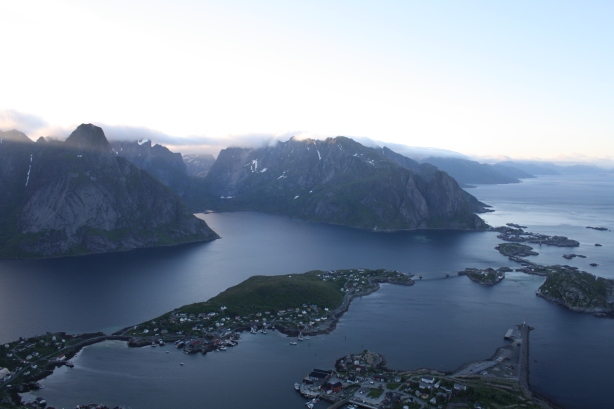 The amazing view above Reine