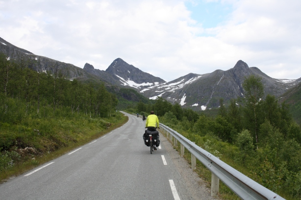 The long steep climb on Senja