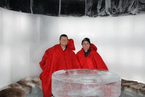 Me and Chris in the Ice Bar