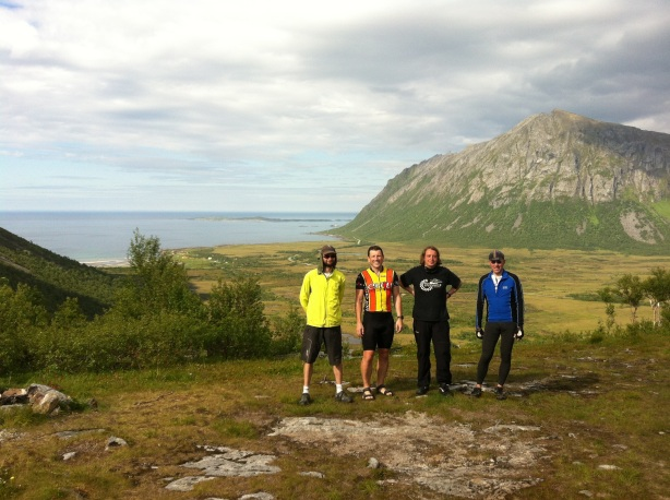 The team of four at Gryllefjord