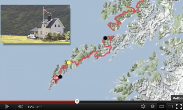 YouTube video of the Bodø - Nordkapp 2012 cycle trip