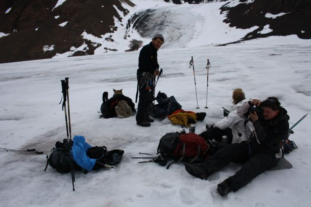 Lunch on the glacier