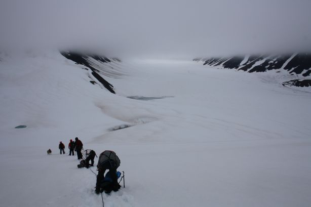 The panorama of ice and snow