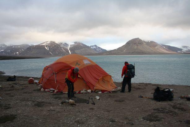 Tent destruction