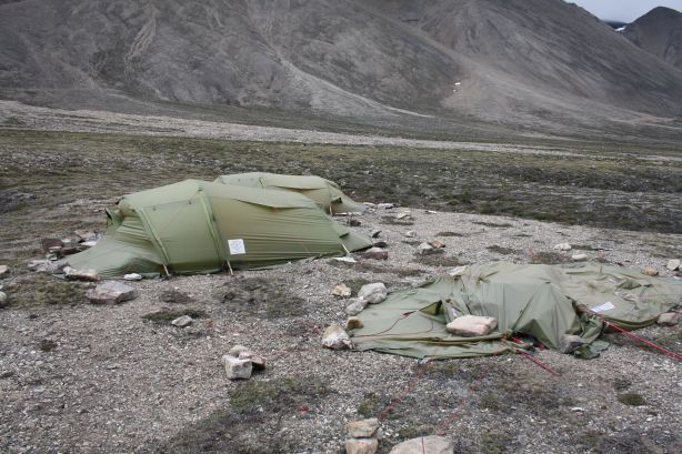 Remaining tents consolidated