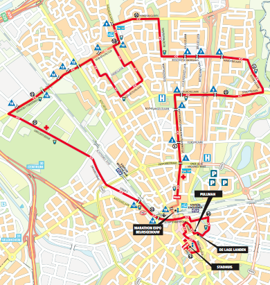 Route of the Eindhoven Marathon