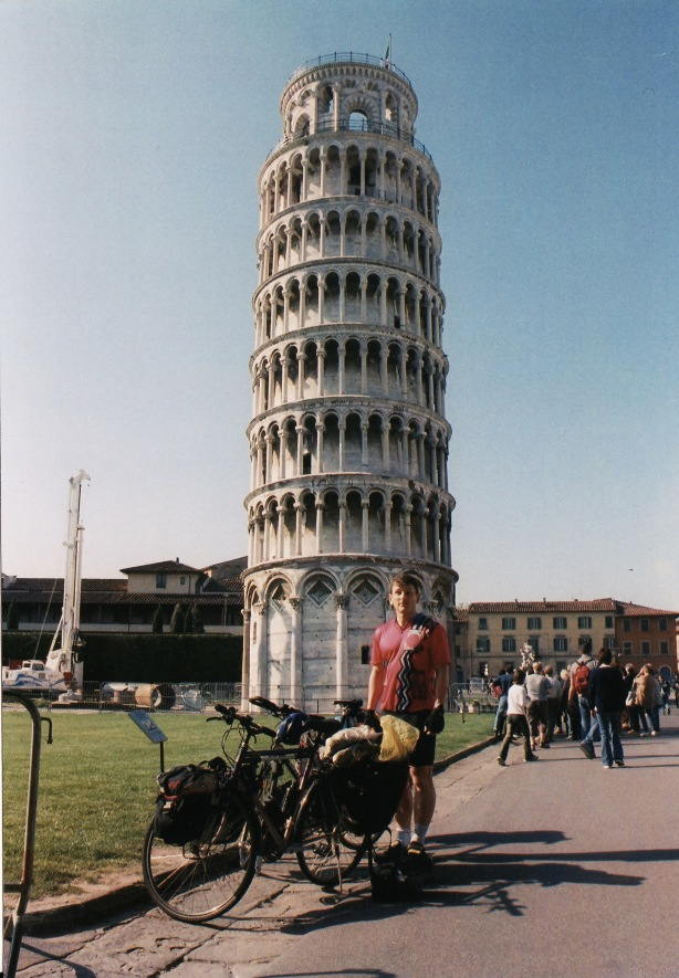 Starting point: The leaning tower of Pisa.