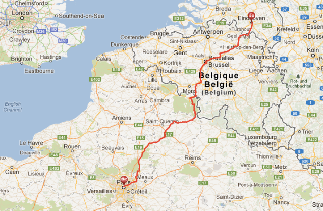 Eindhoven - Paris by bike
