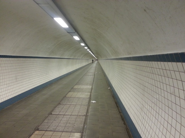 Pedestrian tunnel in Antwerp