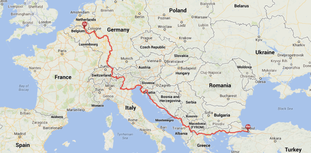 World Bike Trip 2014: Route through Europe