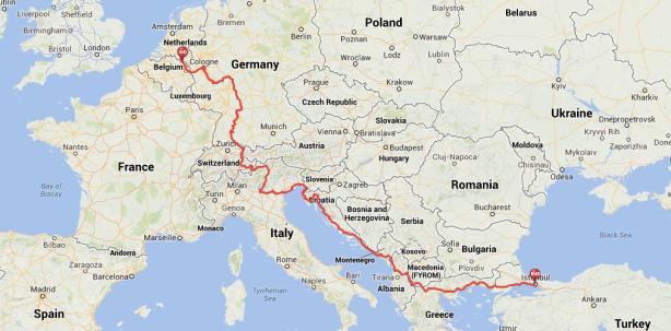 World Bike Trip 2014: Route through Europe