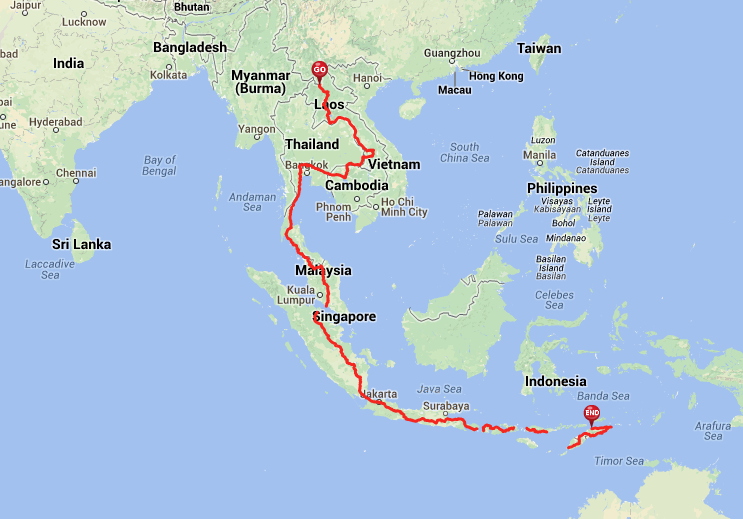 World Cycle Route Through Southeast Asia Arcticcyclercom - Where is asia