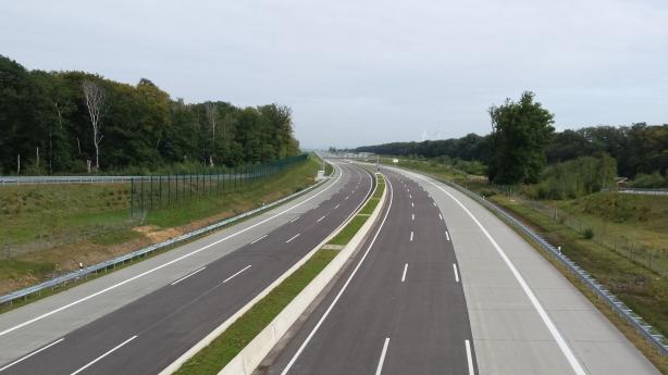 The empty freeway.
