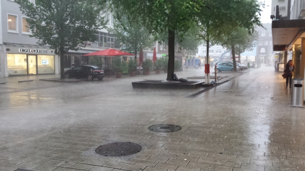Torrential downpour in Heilbronn