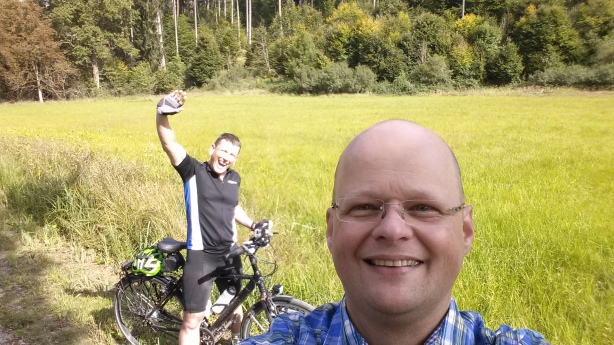 Dirk and me in the forest