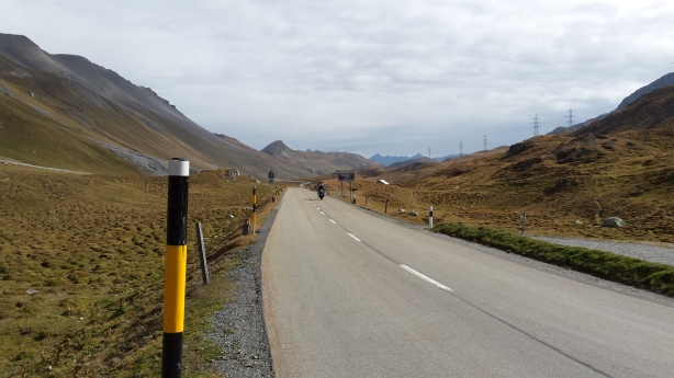 Looking down from the Albula Pass
