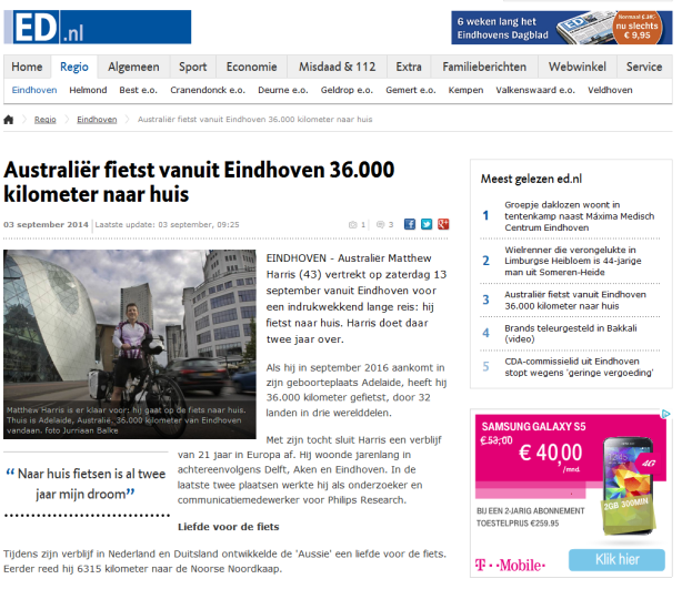 Article in the Eindhovens Dagblad