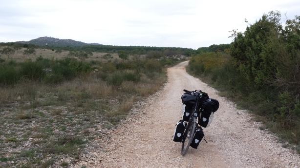 Another Croatian bike path - I turned back