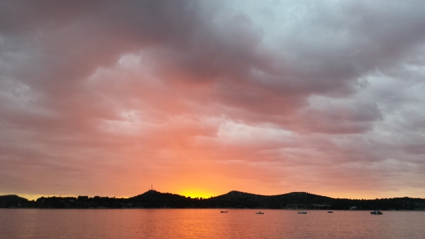 Sunset in Šibenik