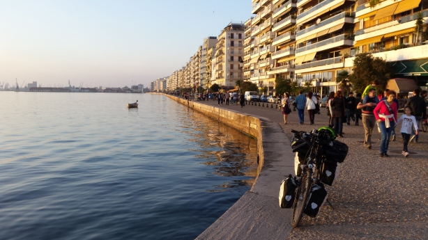 Approaching sunset in Thessaloniki