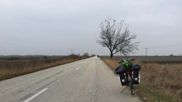 More long, straight, flat roads in Greece