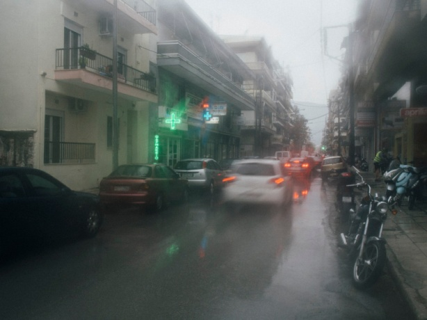 Xanthi - town of the pharmacies in the rain
