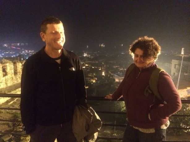 Looking out over Thessaloniki with Ioanna