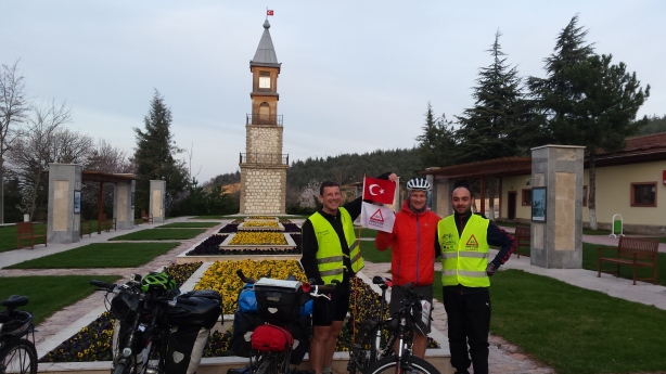 With one of our hosts Emir in Bilecik