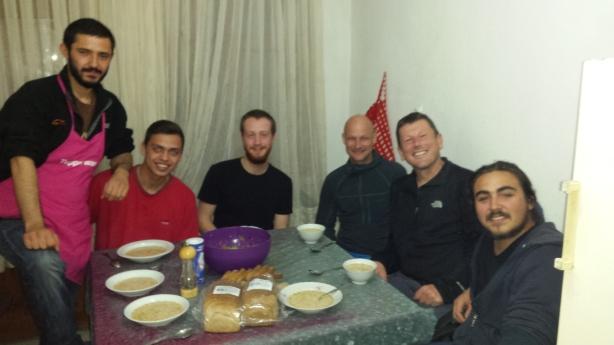 Dinner at Sefa's house