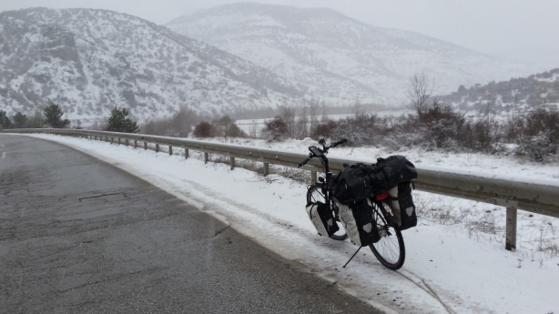 Snow on the way to Gerede