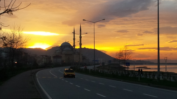 The sunset near Giresun