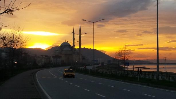 The sunset near Giresun