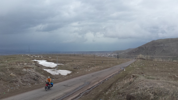 Up out of Lake Sevan