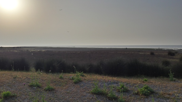 View from our camping spot on the Caspian Sea