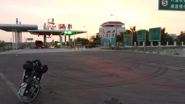 Leaving the freeway at dawn