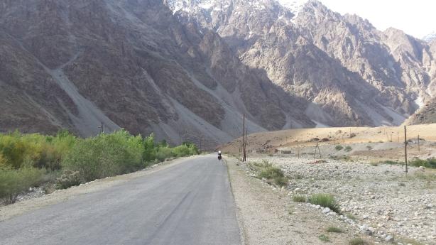 Towards the Pamir plateau