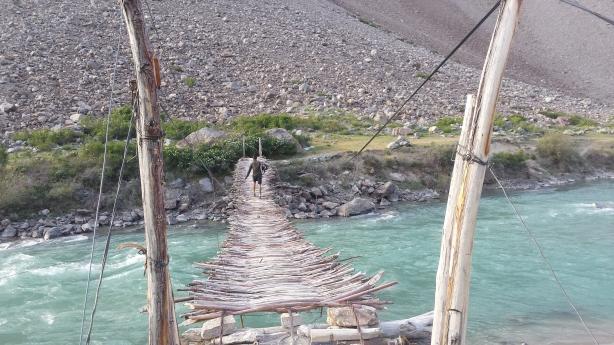 Bridge to the campsite