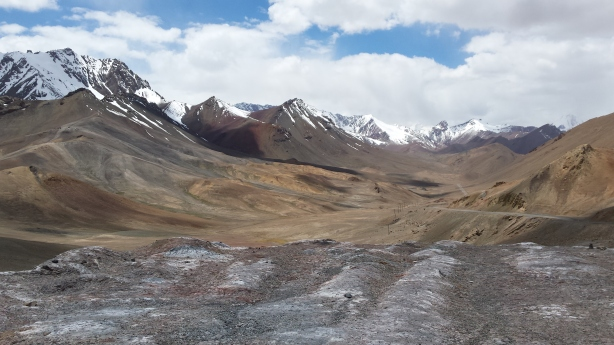 View northwards from the Akbaital Pass