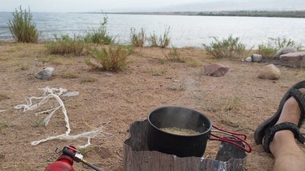Cooking at Issykul