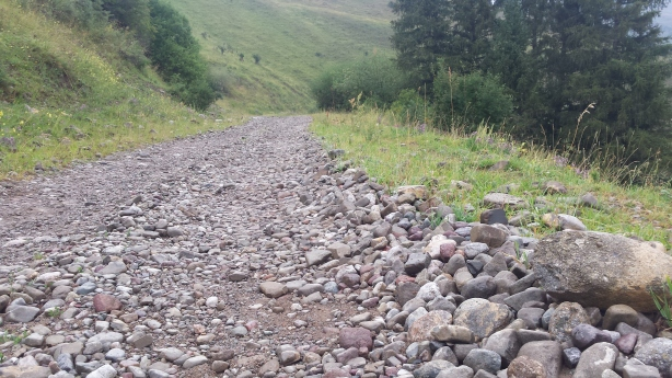 Rocky descent