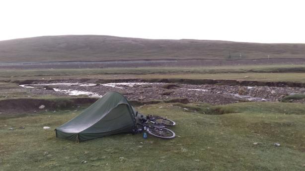 Frosty camping spot