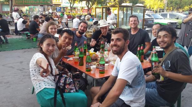 New friends in Turpan