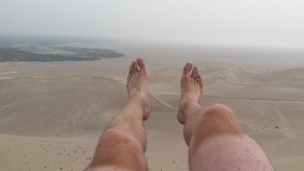 The vast sandy expanse