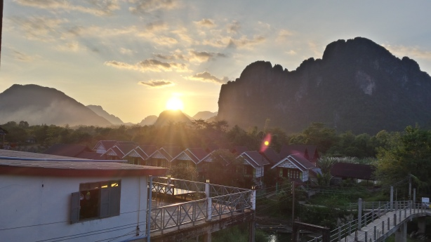 Sunset at Vang Vieng
