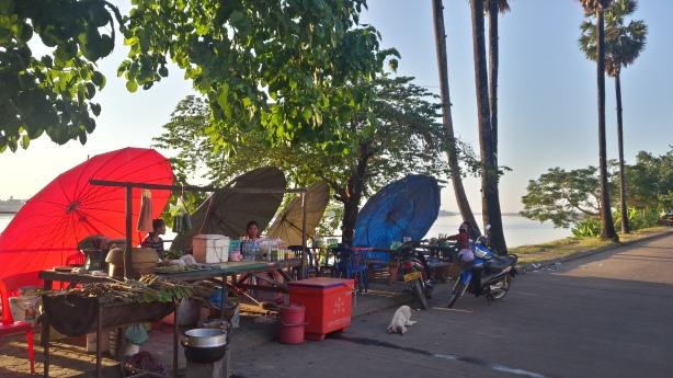 Umbrellas on the Mekong
