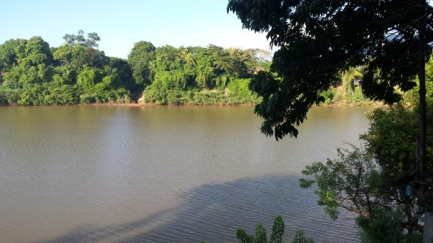 View from my guesthouse in Pakse